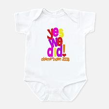 Yes We Did Obama 2008 Infant Bodysuit