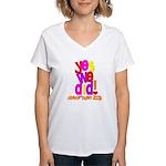 Yes We Did Obama 2008 Women's V-Neck T-Shirt