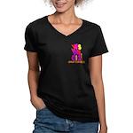 Yes We Did Obama 2008 Women's V-Neck Dark T-Shirt