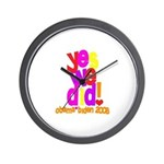 Yes We Did Obama 2008 Wall Clock