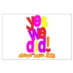 Yes We Did Obama 2008 Large Poster