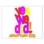 Yes We Did Obama 2008 Small Poster