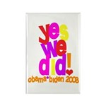Yes We Did Obama 2008 Rectangle Magnet (100 pack)
