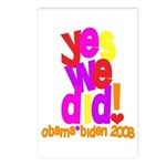 Yes We Did Obama 2008 Postcards (Package of 8)