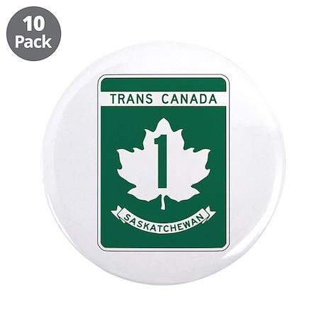 """Trans-Canada Highway, Saskatchewan 3.5"""" Button (10"""