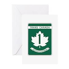 Trans-Canada Highway, Saskatchewan Greeting Cards