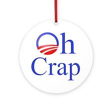 Obama Oh Crap Ornament (Round)
