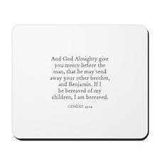 GENESIS  43:14 Mousepad