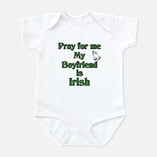 Pray for me My Boyfriend is I Infant Bodysuit