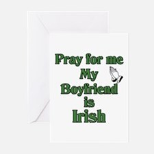 Pray for me My Boyfriend is I Greeting Cards (Pack