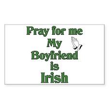 Pray for me My Boyfriend is I Sticker (Rectangular