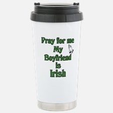 Pray for me My Boyfriend is I Travel Mug