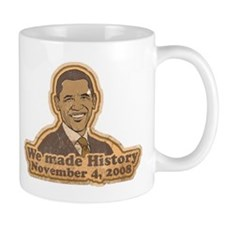 Retro We Made History Mug
