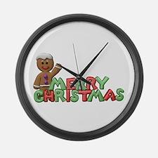 CHRISTMAS COOKIES Large Wall Clock