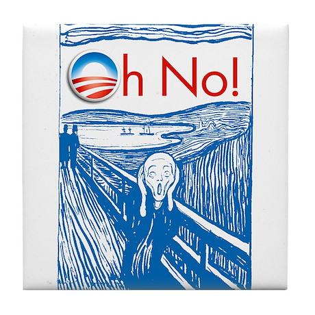 Oh No Obama - Scream Tile Coaster