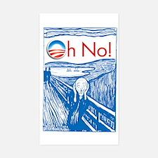 Oh No Obama - Scream Rectangle Decal