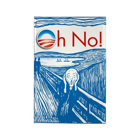 Oh No Obama - Scream Rectangle Magnet (100 pack)