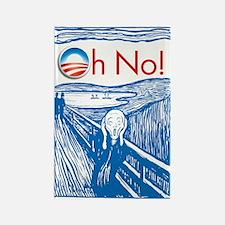 Oh No Obama - Scream Rectangle Magnet