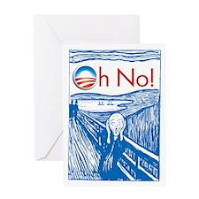 Oh No Obama - Scream Greeting Card