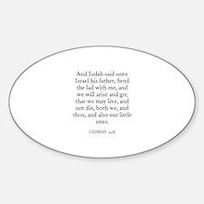 GENESIS 43:8 Oval Decal