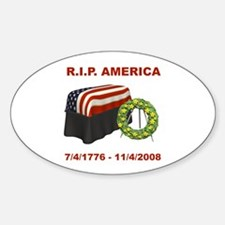 RIP America Oval Decal