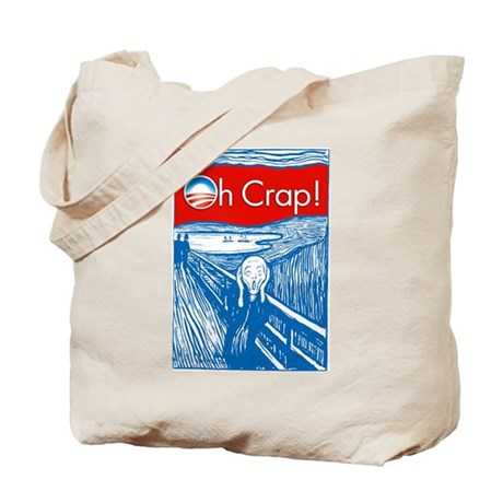 Oh Crap Obama Scream Tote Bag