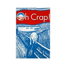 Oh Crap Obama Scream Rectangle Magnet