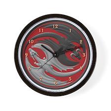 Dragon Yin Yang Wall Clock