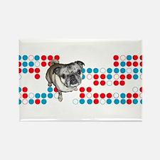 Mod Pug Rectangle Magnet