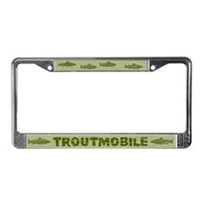 Troutmobile License Plate Frame