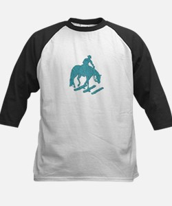 Teal trail horse with poles Tee