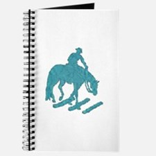 Teal trail horse with poles Journal