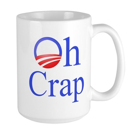 Obama Oh Crap Large Mug