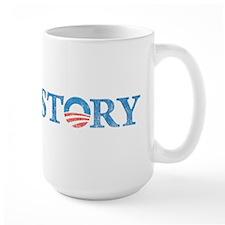 Vintage Obama Wins Logo Mug