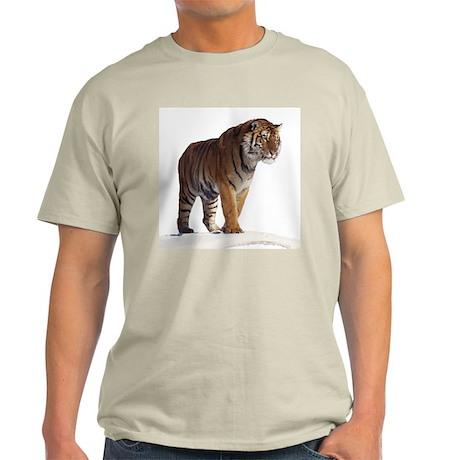 """Tiger in the Snow - B2"" Ash Grey T-Shirt"