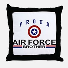 Proud Air Force Brother Throw Pillow