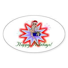 Holiday Fairy Oval Sticker (10 pk)
