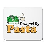 Powered By Pasta Funny Runner Mousepad