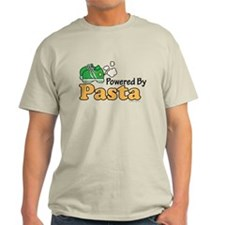 Powered By Pasta Funny Runner T-Shirt