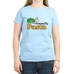 Powered By Pasta Funny Runner Pink T-Shirt