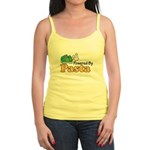 Powered By Pasta Funny Runner Jr. Spaghetti Tank