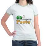 Powered By Pasta Funny Runner Jr. Ringer T-Shirt