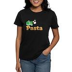Powered By Pasta Funny Runner Women's Dark T-Shirt