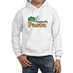 Powered By Pasta Funny Runner Hooded Sweatshirt