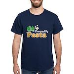 Powered By Pasta Funny Runner Dark T-Shirt