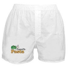 Powered By Pasta Funny Runner Boxer Shorts
