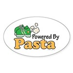 Powered By Pasta Funny Runner Oval Sticker (50 pk)