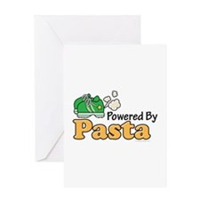 Powered By Pasta Funny Runner Greeting Card