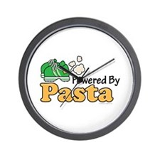 Powered By Pasta Funny Runner Wall Clock