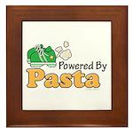 Powered By Pasta Funny Runner Framed Tile